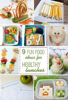9 healthy lunch box ideas | via blog.thecelebrationshoppe.com