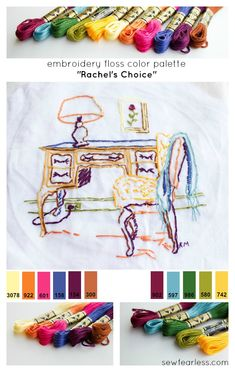 Rachel's Choice  Embroidery Floss Color Palettes - from SewFearless.com