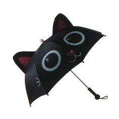 Meowing Black Cat Umbrella- sold out, and I don't want one that meows but come on it's so cute!