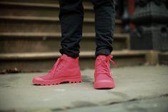 Palladium. Monochrome Collection. Shoes. Black & Red. Slim. Fashion. Summer. Great Match. Etiquette. +1