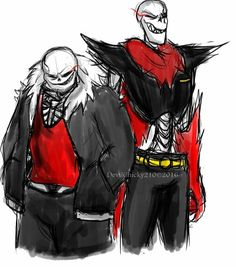Underfell Sans and Papyrus