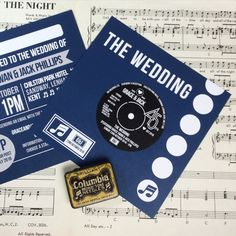HowTo DIY a vinyl record wedding invitation from Downloadandprint