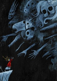 Weird Creatures, Fantasy Creatures, Dark Fantasy, Fantasy Art, Surealism Art, Illustration Arte, The Ancient Magus, Dark Artwork, Scary Art
