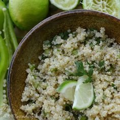 Cilantro Lime Quinoa is a healthy side dish recipe. Serve with your favorite Mexican main dish. Or add chicken for a gluten free dinner recipe!