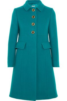 MIU MIU Wool-Felt Coat. #miumiu #cloth #coats
