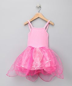 Take a look at the My Princess Academy Pink Velvet Fairy Princess Dress - Girls on #zulily today!