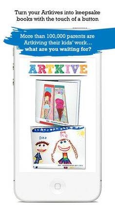 ArtKive- an app for storing, sharing or printing your child's artwork