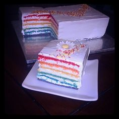#rainbowcake Http://www.facebook.com/losdulcesdealma.