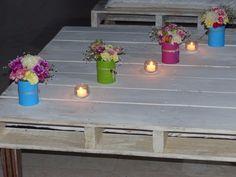 centros de mesa rusticos con latas - Buscar con Google