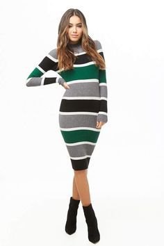 Find your favorite sweater & cardigan styles at Forever Cozy up in our oversized knits with classic crochet cardigans, ribbed sweater dresses, velvet sweatshirts, chenille tops & more! Clothes 2019, Fall Clothes, Cardigan Fashion, Tube Dress, Ribbed Sweater, Striped Dress, Dress Black, Fashion Dresses, Women's Fashion