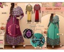 jual baju muslim online berkualitas z957 pusat busana maxi long dress muslim harga murah grosir