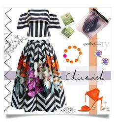 """Chicwish Skirt Contest"" by linkfari ❤ liked on Polyvore featuring Polaroid, Chicwish, Gianvito Rossi, Jimmy Choo and Kate Spade"