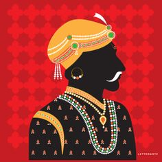 Rajput king Canvas Art - The beautiful Rajput King Canvas art adds subtle, graphic tones of regality to your room's decor. LetterNote's canvas art pieces are efficiently stretched to cover wooden bars. The edges are intricately hand painted to define the finesse in each of these. An acrylic coating is applied that protects the stunning print from dust, moisture and fading to ensure longevity of your prized possession.
