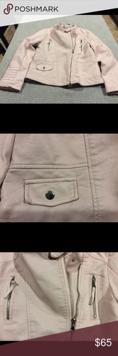 Zara Girls Biker Collection Sz 9/10 This is a pink faux leather jacket for your little biker chickadee. This jacket is new with tags so it's in perfect condition.   Measurements Approx:  Armpit to Armpit: 14.5 in Sleeve length: 19.5 in Total Length: 20.5 in Zara Jackets & Coats