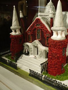 An odd entry into the gingerbread house competition by wonderland.5, via Flickr