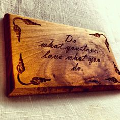 Large custom wood carved sign carving quote by thecarpentersshop57, $42.00