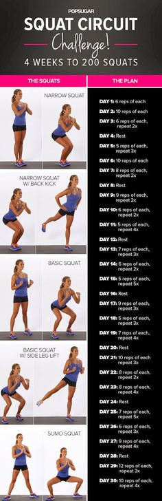 30-Day Squat Challenge. Did this and started seeing results towards the end. Will definitely keep working.