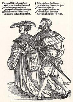 Artist: Schäufelein, Hans Leonhard, Title: Der Fürstentanz, Fürstin und Edelmann, Date: ca. 1535