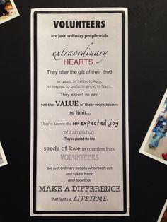Volunteer poem