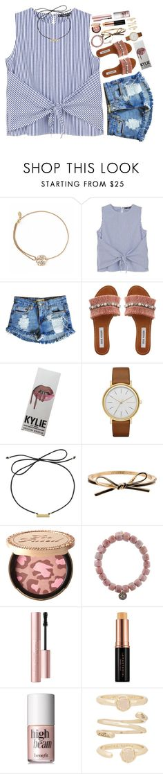 """""""may your heart (& closet) be full."""" by sdyerrtx ❤ liked on Polyvore featuring Alex and Ani, MANGO, Levi's, Steve Madden, Kylie Cosmetics, Skagen, Laundry by Shelli Segal, Kate Spade, Too Faced Cosmetics and Sydney Evan"""