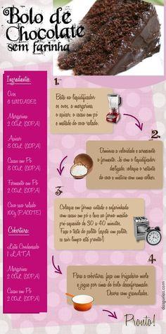 Receita de Bolo de Chocolate sem Farinha! Confira outras receitas especiais no nosso blog: https://www.emporioecco.com.br/blog/receitas/