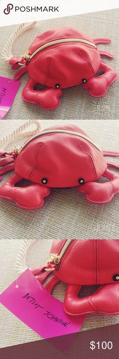 Betsey Johnson crab wristlet, BNWT!  Betsey Johnson crab wristlet, BNWT!  super cute wristlet and collectors item! Item is brand new and unused. No trades. Betsey Johnson Bags Clutches & Wristlets