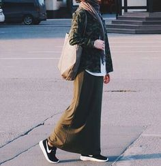 I need to start saving up for more long skirts and dresses #hijab