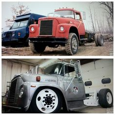 International truck rod before and after Bagged Trucks, Lowered Trucks, Mack Trucks, Big Rig Trucks, Diesel Trucks, Custom Trucks, Cool Trucks, Chevy Trucks, Pickup Trucks