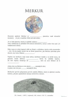 Mercury, Teaching Materials, Science And Nature, Solar System, Natural, Astronomy, Sistema Solar, Science And Nature Books, Nature