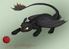 Toothless and his toy by Rittik.deviantart.com on @deviantART