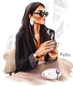 Ideas For Fashion Ilustration Sketchbook Artists Space Drawings, Girly Drawings, Fashion Wall Art, Fashion Painting, Caricature Art, Mode Poster, Illustration Mode, Fashion Design Sketches, Girl Boss