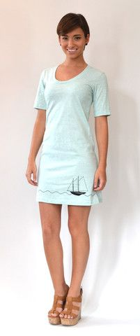 Artisan Tees - Boat Dress on American Apparel #fashion #womensfashion #americanapparel #customdress #cooldesign #bluedress #sailingdress #boatdress #boat #ocean #sailboat #island #spring #summer #water #vacation #charleston #cooperriver #gogreen #artisantees