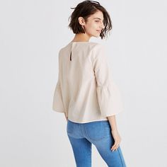 Madewell+-+Striped+Bell-Sleeve+Top