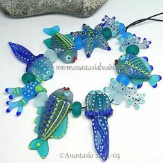 "Anastasia Lampwork Beads 10 ""Emerald Sea"" SRA | eBay http://www.ebay.com/itm/261428455862?ssPageName=STRK:MESELX:IT&_trksid=p3984.m1555.l2649"