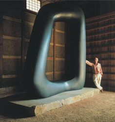 "Noguchi and ""Energy Void"" 1971  Noguchi Garden Museum, Japan"