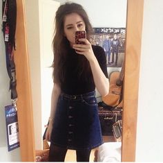 instagram.com/ciarapollock Denim Skirt, Pocket, My Style, Skirts, Blog, Outfits, Beauty, Instagram, Fashion