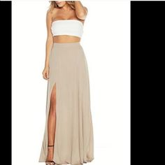 Beautiful naked wardrobe skirt Worn once nude small also have a black one same exact skirt never worn Nakedwardrobe Skirts