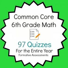 I have been looking for these unwrapped common core standards common core 6th grade math quiz pack 97 quizzes entire year bundle fandeluxe Choice Image