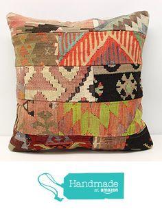 Turkish Patchwork kilim pillow cover 20x20 inch (50x50 cm) Anatolian Kilim pillow cover Patchwork Throw Pillow cover Handmade Kilim Cushion Cover https://www.amazon.com/dp/B01N9DE0AU/ref=hnd_sw_r_pi_dp_F4Pqyb9P2ZSHB #handmadeatamazon