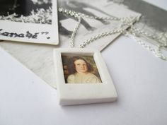 Amazing Cute White Polaroid Photo Chain Necklace Fimo - Polymer Clay buy here : https://www.etsy.com/shop/heymate