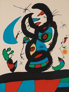 "JOAN MIRÓ, ""Montroig I"".. - Höstens Moderna Auktion, Stockholm 575 – Bukowskis"