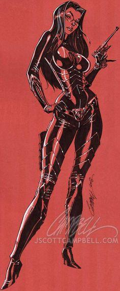 Baroness - J-Scott-Campbell on deviantART Comic Book Artists, Comic Books Art, Comic Art, J Scott Campbell, Baroness Gi Joe, Danger Girl, Arte Dc Comics, Fantasy Comics, Female Stars