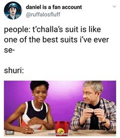 Shuri is my princess and I love her - #BlackPanther #Shuri #LetitiaWright #EverettRoss #MartinFreeman