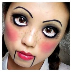 Last-Minute Halloween Makeup Ideas ❤ liked on Polyvore featuring beauty products and makeup