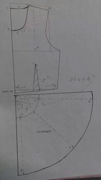 Peplum Tunic Sewing Patterns, Blouse Patterns, Sewing Hacks, Sewing Tutorials, Circle Skirt Tutorial, Sewing School, Collar Pattern, Pattern Cutting, Pattern Drafting