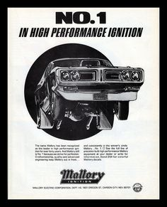 Mallory Ignition, 1973