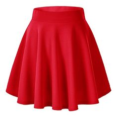Urban CoCo Women's Basic Versatile Stretchy Flared Casual Mini Skater Skirt (X-Large, Wine Red). back to school outfits for college Blue Skater Skirt, Flared Mini Skirt, A Line Mini Skirt, Skater Skirts, Circle Skirts, Skater Dress, Red Skirts, Cute Skirts, Short Skirts