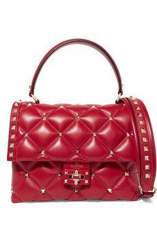 fc733b0798ac Valentino - Valentino Garavani Candystud quilted leather shoulder bag