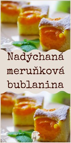 Nadýchaná meruňková bublanina Pavlova, Desert Recipes, No Bake Desserts, Yummy Treats, Food To Make, Cupcake Cakes, Deserts, Goodies, Food And Drink