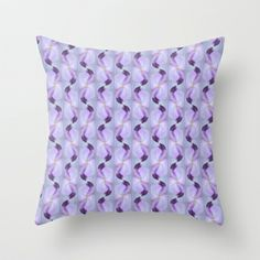 Floral Ribbon Swirl Throw Pillow by Judy Palkimas - $20.00